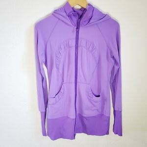 Lululemon in stride jacket purple size 8